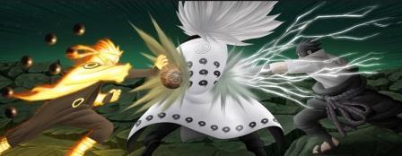 gambar madara melawan naruto dan sasuke