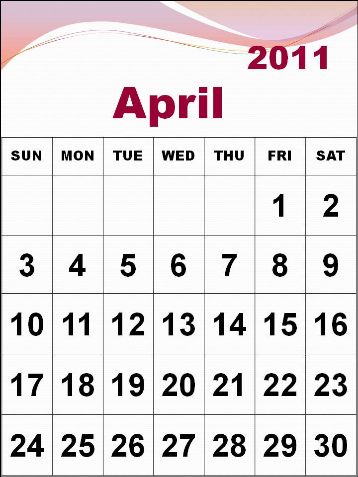 march and april calendars. blank calendars april 2011.
