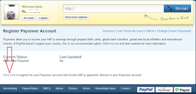register payoneer with adf.ly