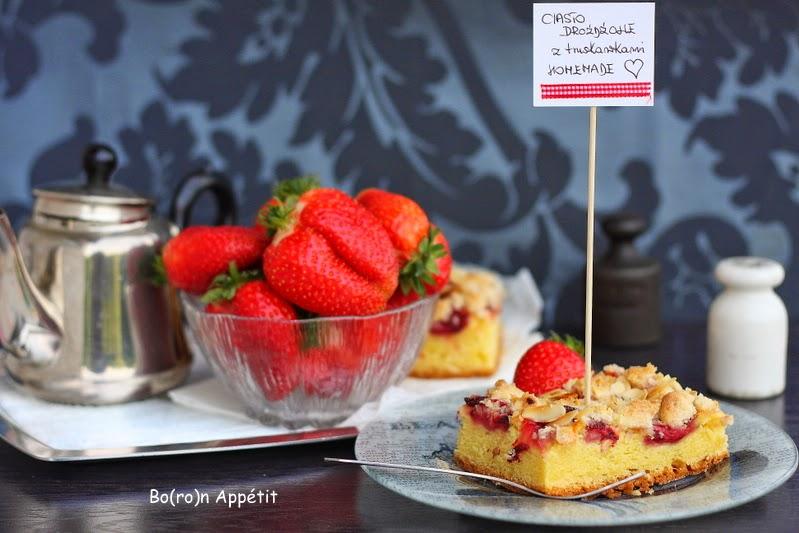 Ciasto drożdżowe z truskawkami przepis