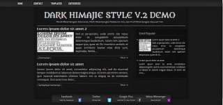 Dark Himajie Style v.2 SEO Blogspot HTML5 Template