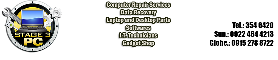 Stage3 PC Manila -Computer Repair -Data Recovery -Laptop Repair