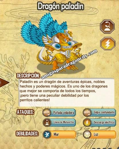 todas las estadisticas del dragon paladin