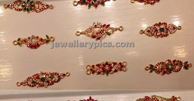 18 Beatiful Gold Mugappu Collection With Ruby Emaralds