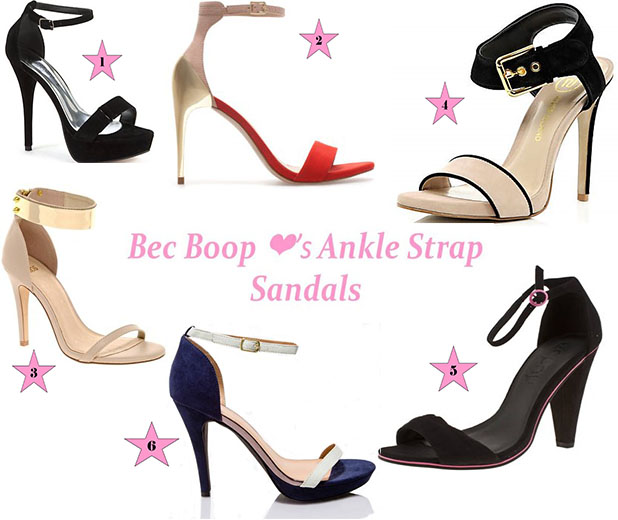 Ankle Strap sandals Shoe Wishlist April 2013