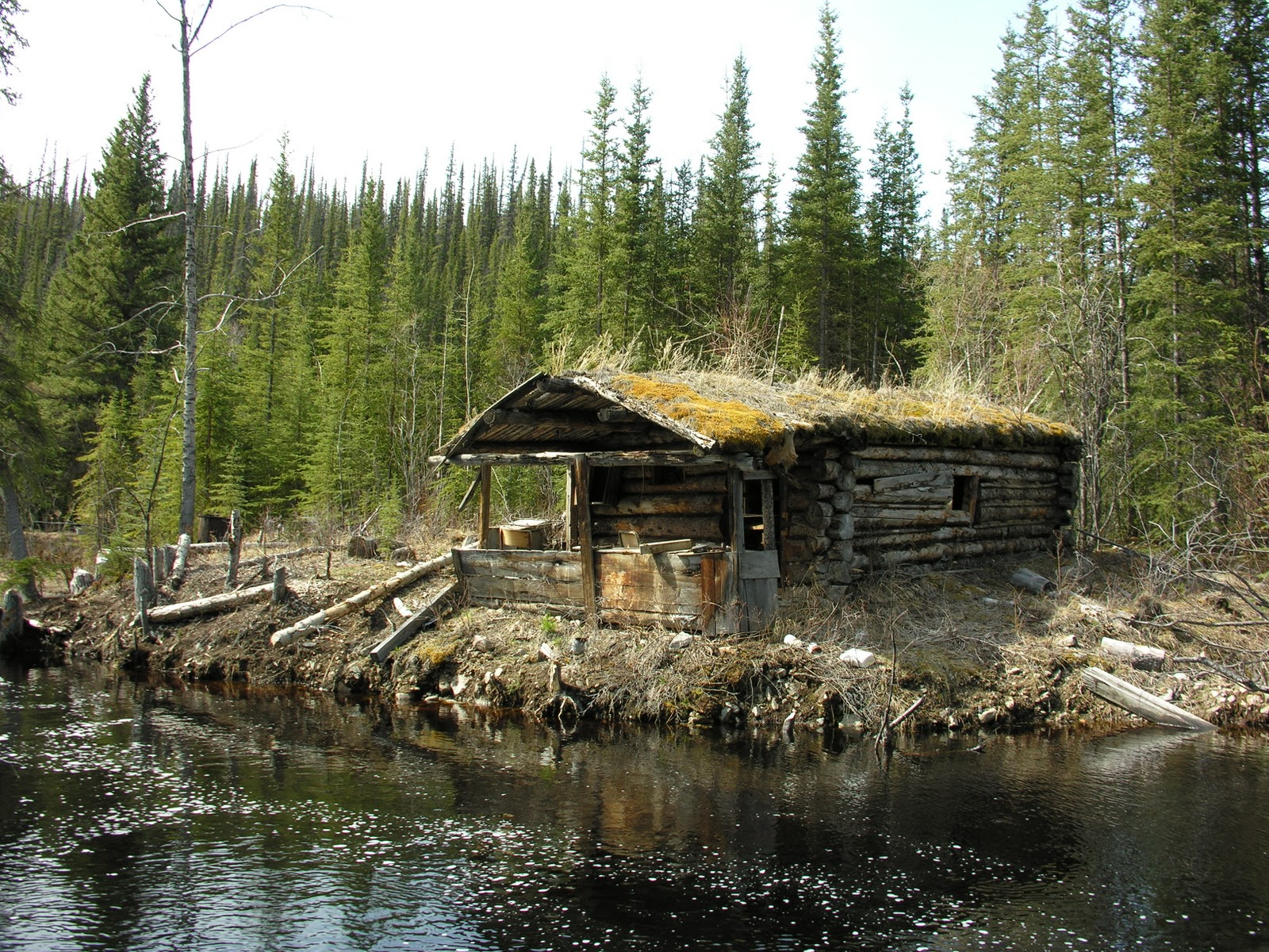 Lloyd S Blog Log Cabin With Sod Roof In Yukon