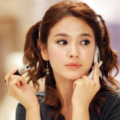 Cute Song Hye Kyo Ponytail Hairstyle photo