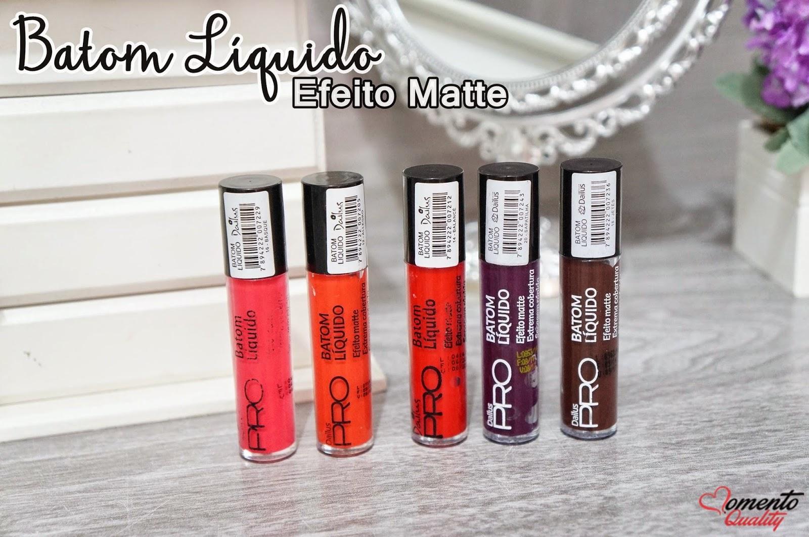 Batons Líquido Efeito Matte - Dailus Pro