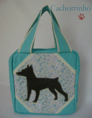 Bolsa para guardar esmaltes - modelo Cachorrinho