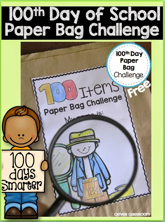 100th day of school idea freebie