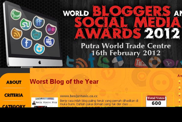 SOCIAL MEDIA AWARD 2012