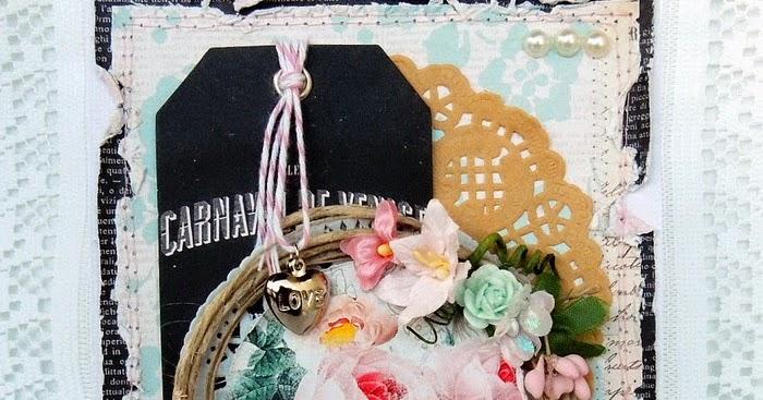 Carta Parati Classica Toile Elegance: Claralesfleurs Scrapbooking: Carte Shabby Melissa Frances