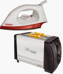 Sogo SS-5365 750 W Pop Up Toaster worth Rs.1145 for Rs.500 Only | Maharaja Whiteline DI-104 Dry Iron worth Rs.699 for Rs.399 Only (Limited Period Offer)
