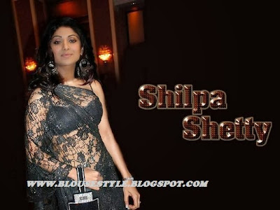 BOLLYWOOD SHILPA SHETTY IN LACE SAREE