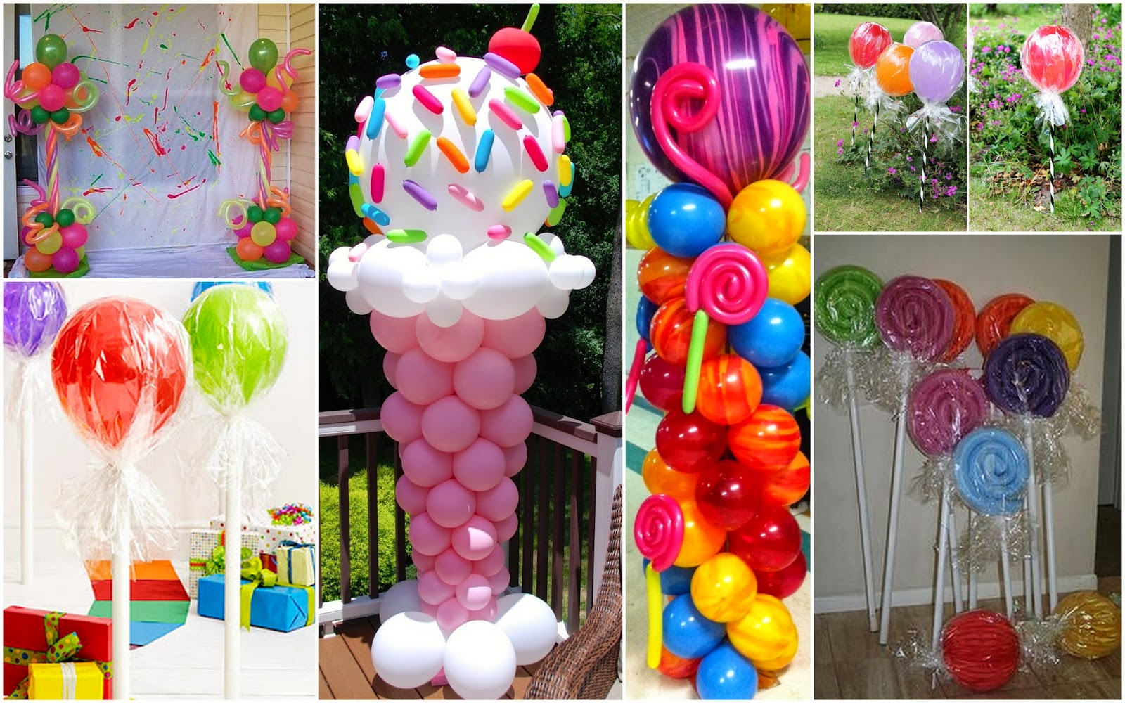 Candy Themed Balloons Athena Miel's Balloons, Bubbles and ...