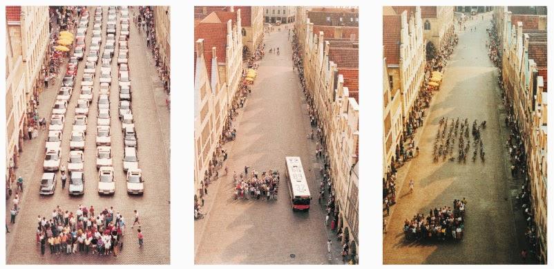 pengguna jalan mobil pribadi bus dan sepeda
