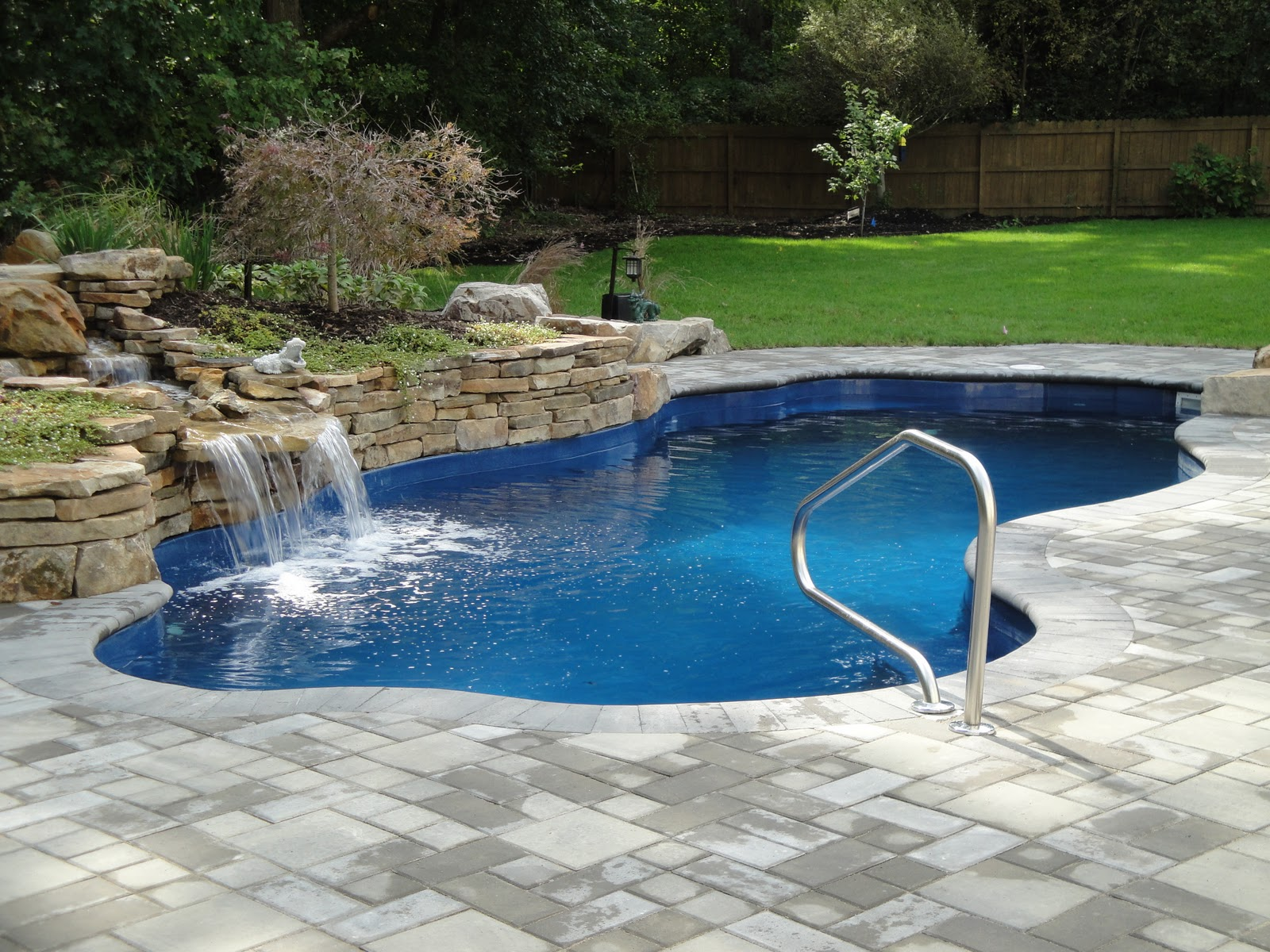Beautiful inground pools wonderful for Inexpensive in ground pool ideas