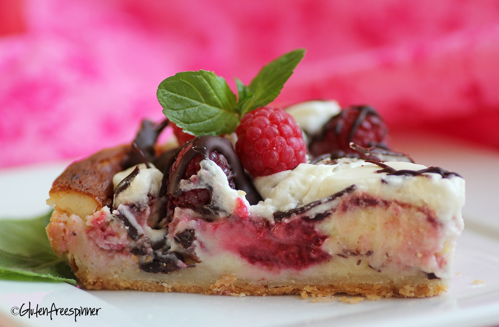 Raspberry White Chocolate Tart
