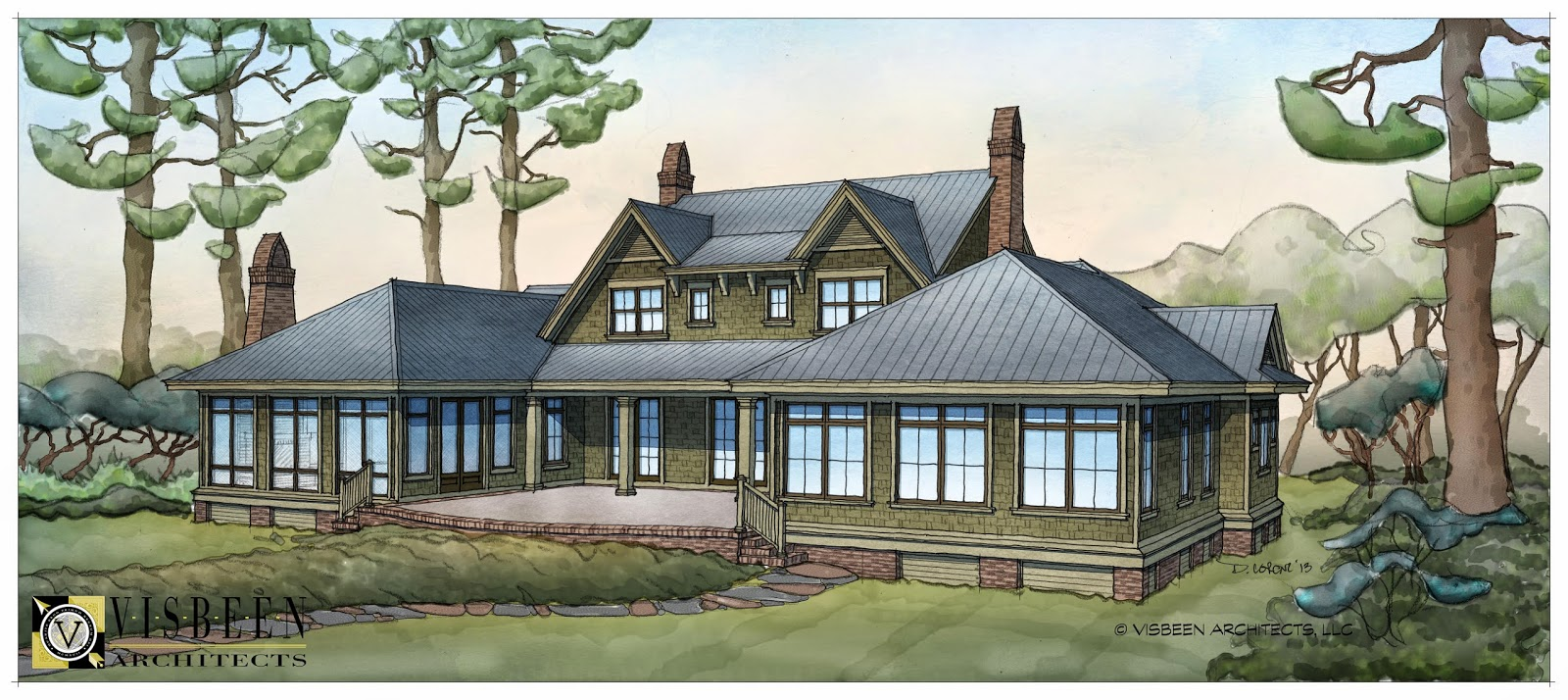 Southern living in style visbeen architects for Visbeen architects georgetown