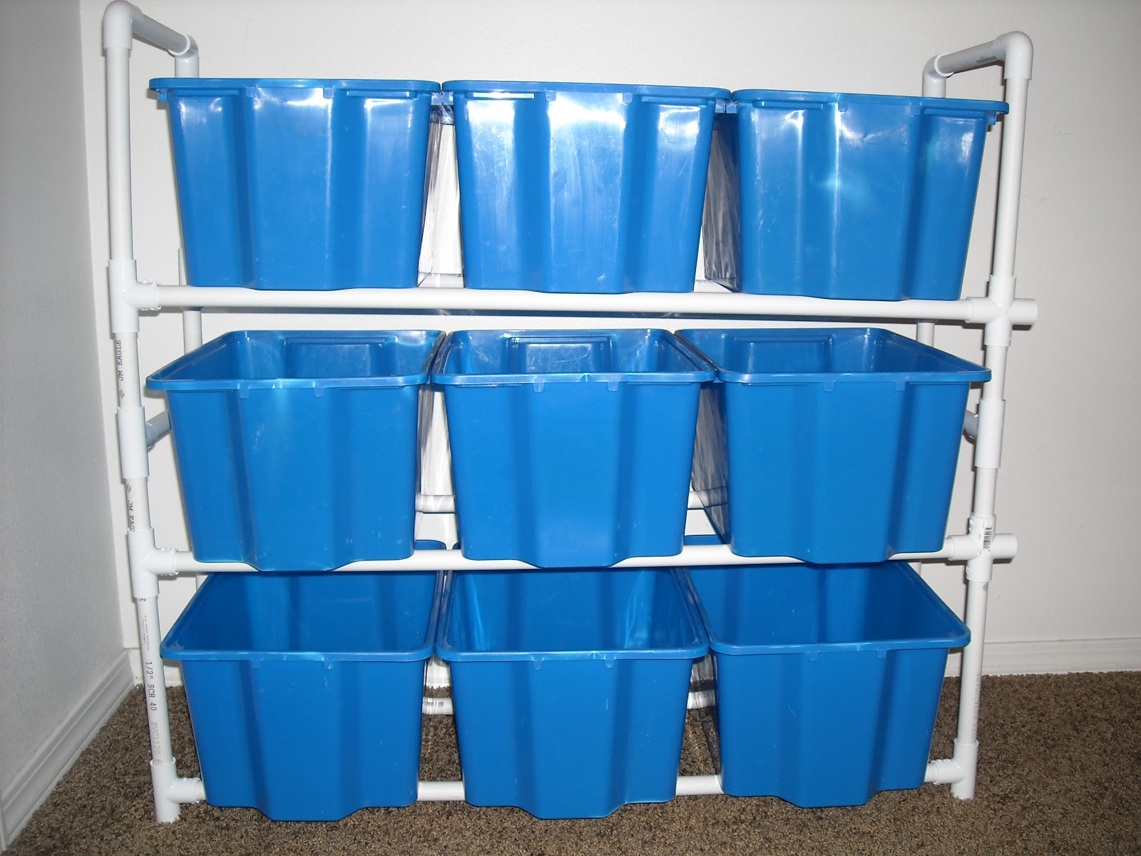 lds mom to many toy organizer with old ikea bins pvc diy. Black Bedroom Furniture Sets. Home Design Ideas