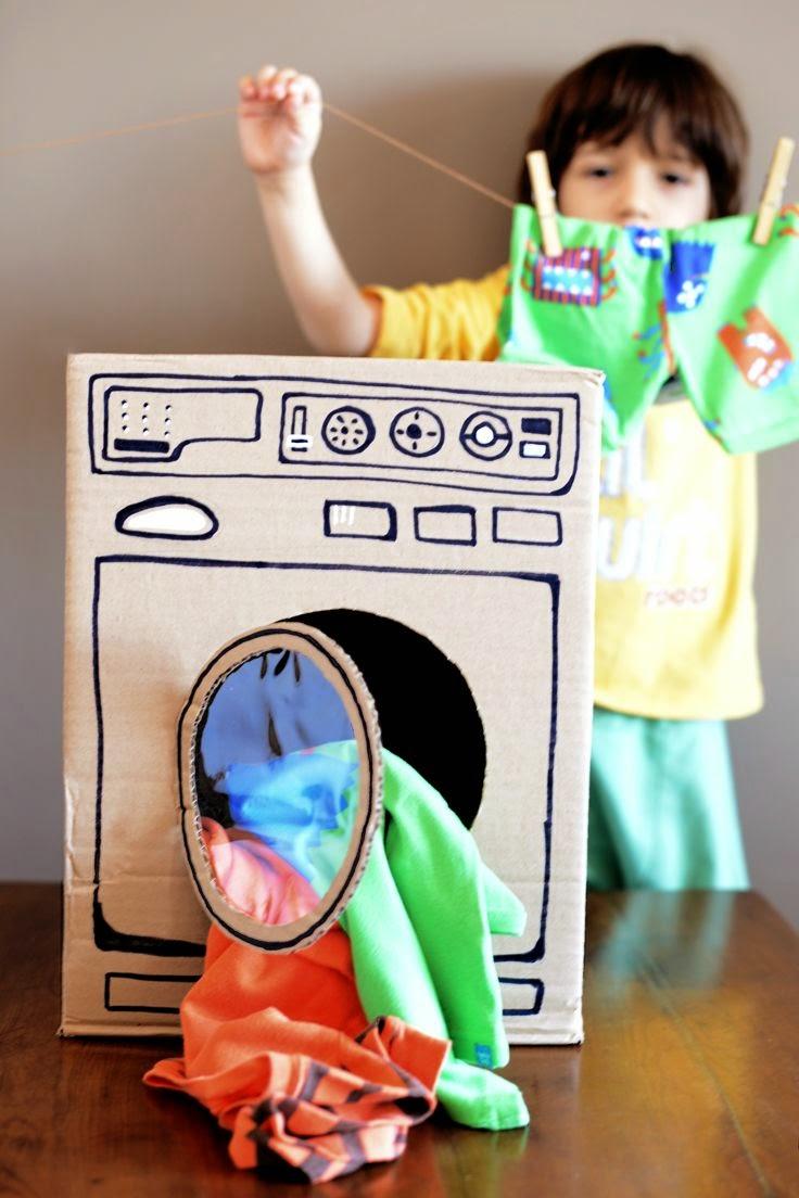 Dla dzieci, Zabawki dla dzieci, rakieta, pralka, dom, tektura, z kartonu, z odpadów, recycling, tanie, diy, cartoon, toys,