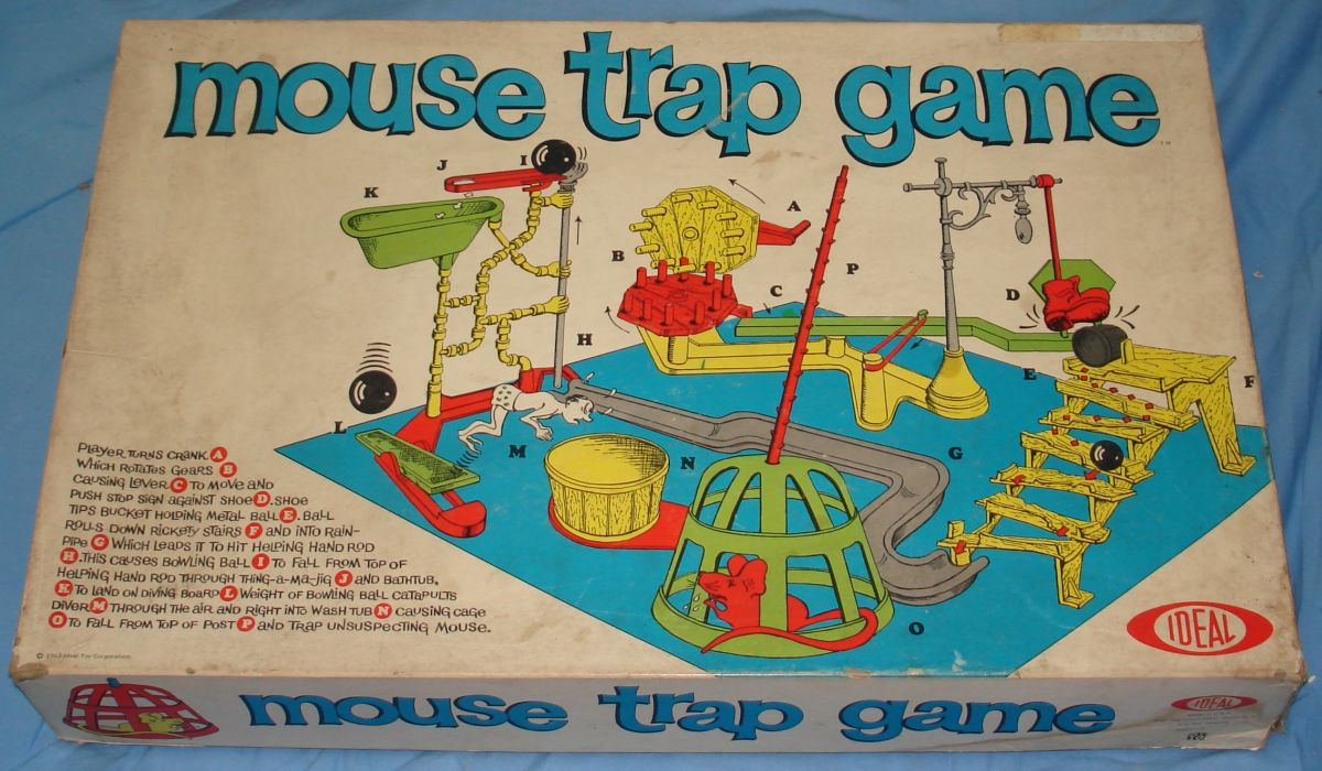 Just Visiting...: Toys of Christmas Past - Part 6 - Mouse Trap