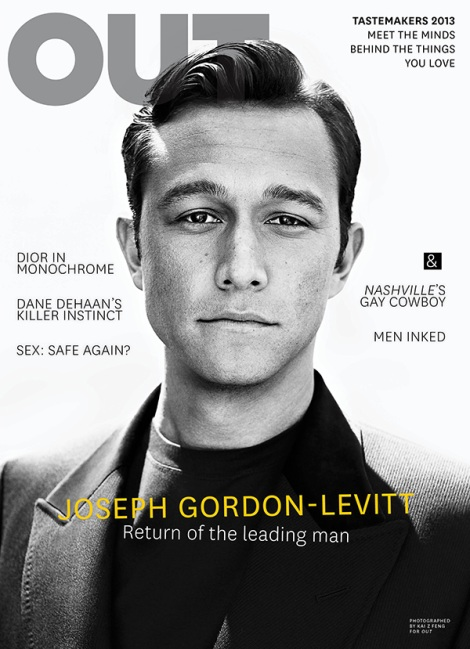 Joseph Gordon-Levitt covers OUT Magazine October 2013