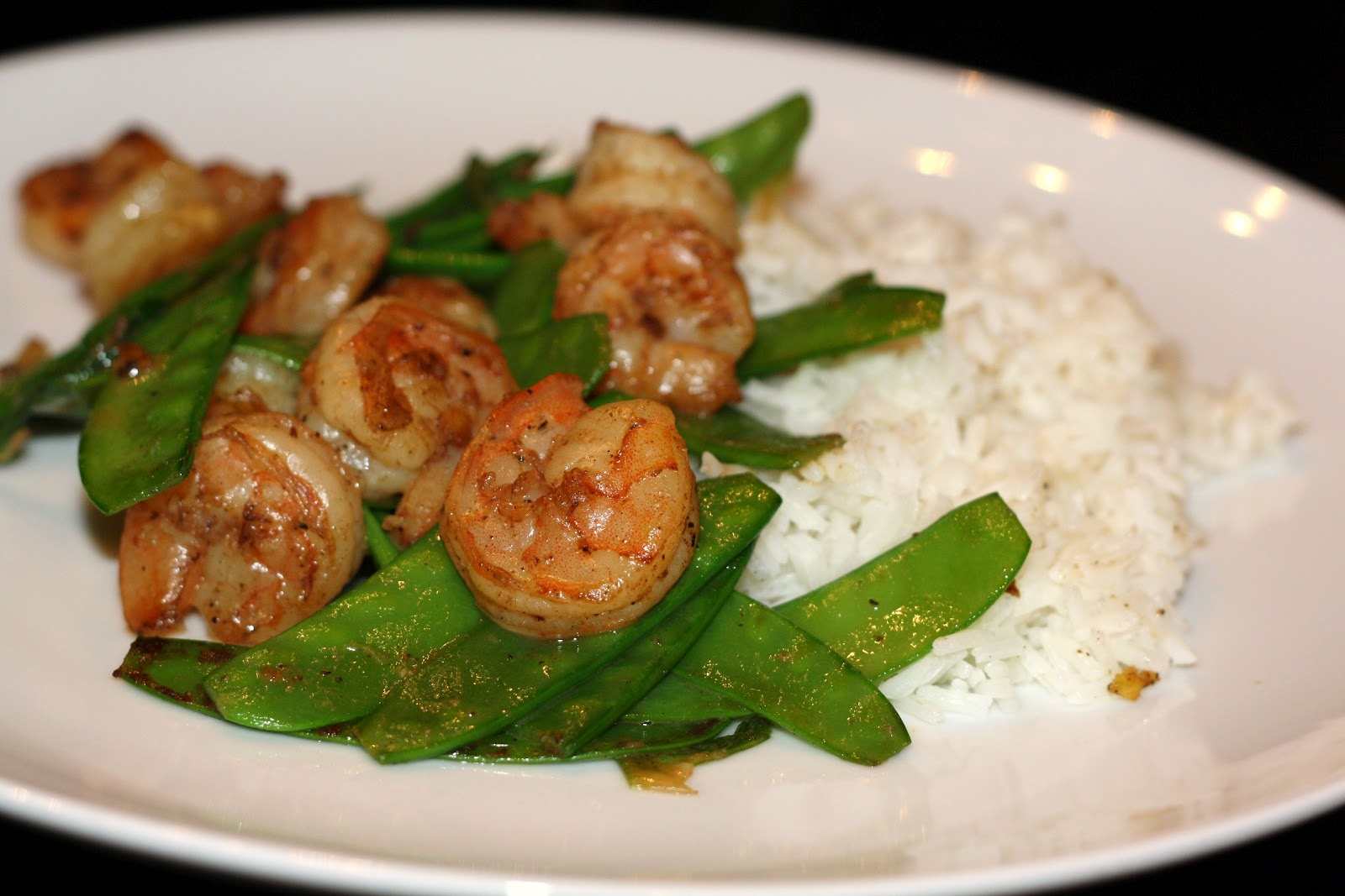 ... for dinner?: five-spice powder shrimp with snow peas... 15 minutes