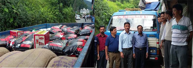 Relief materials for mirik tingling landslides victims