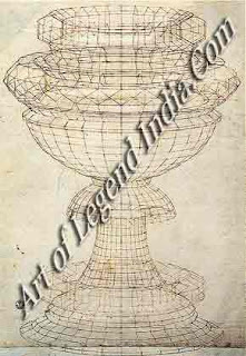 Perspective study of a chalice, This painstaking and detailed pen drawing shows Uccello's meticulous study of perspective and his concern with geometric forms.