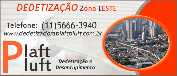 Dedetização Zona Leste de São Paulo 24 Horas - Dedetizadora Plaft Pluft