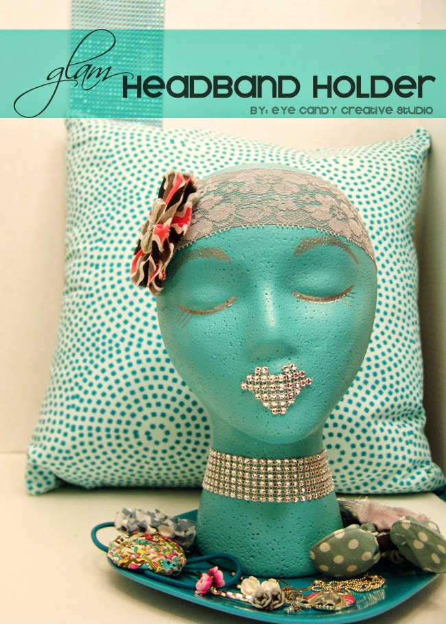glam headband, headband holder, crafting with floracraft, tween room decor