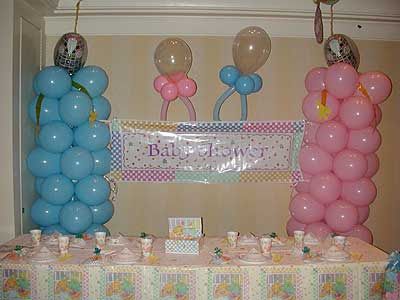 Decoracion de baby shower con globos : Decorando Mejor