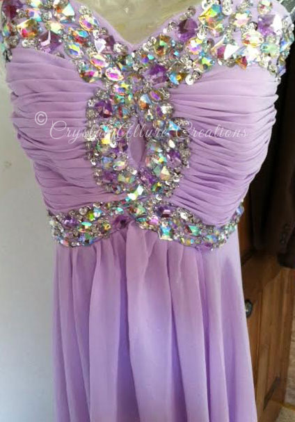 Lavender Prom Dress. Photo Credits: Crystal Allure Beaded Jewelry