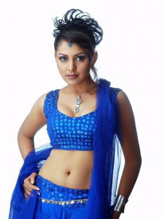 Actress Madhu Shalini In Beautiful Blue Lehenga Picture
