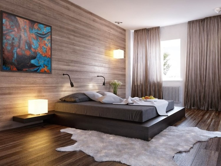 Awesome Idee Deco Chambre Adulte Contemporary - Matkin.info ...