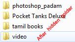 after hidden folder