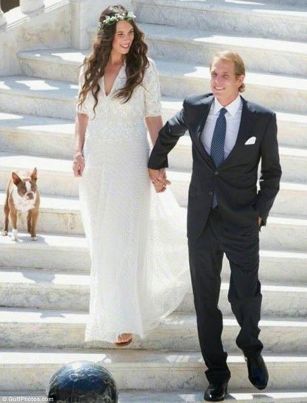 vestidos de novia boda Tatiana Santo Domingo Andrea Casiraghi hermanas bolena
