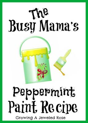 peppermint paint recipe- craft recipes