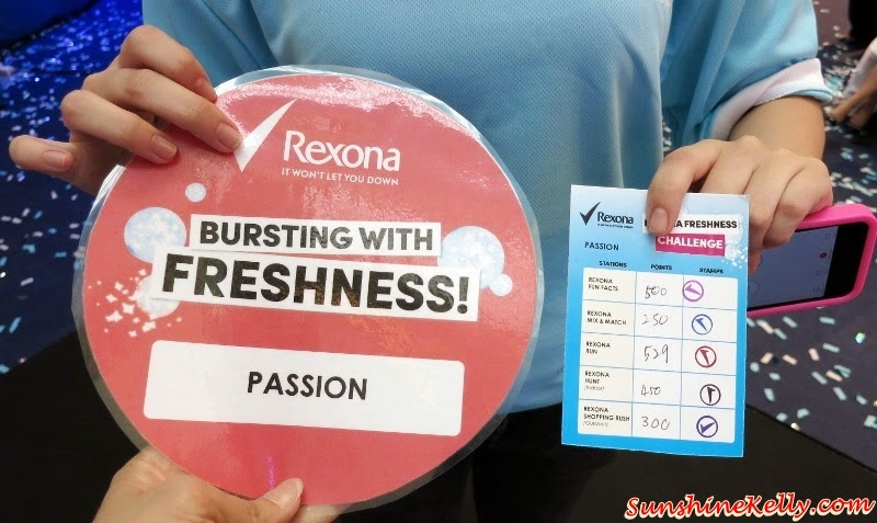 team passion, rexona freshness challenge, Rexona Spray for Women, Freshprotect, Rexona Spray for Women Launch, Rexona Freshness Challenge, Rexona, Deodorant, Sunway Pyramid, Power Dry, Free Spirit, Whitening, Shower Clean, Passion