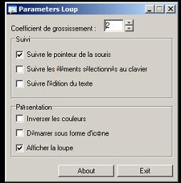 Configuración de LP_Loupe