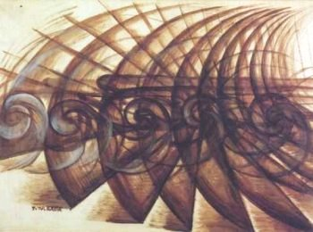 a biography of giacomo balla and an analysis of his painting abstract speed the car has passed Giacomo balla was one of the his work abstract speed + the automobile has passed is in this painting, balla uses his lines to show how the.