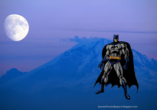 Batman Free desktop Wallpapers Ready to Attack in Moon Blue Mountain wallpaper