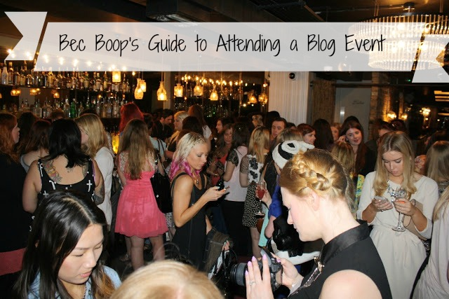 Guide to attending a blog event