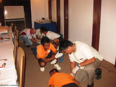 EFR course, Imperial Boathouse, Choengmon, Koh Samui, Thailand log roll