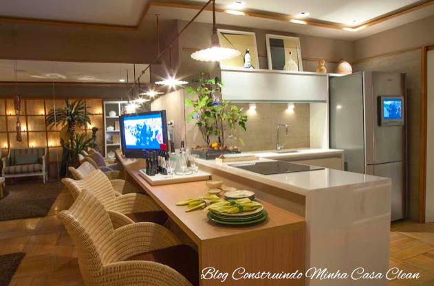 Casa Clean: 25 Cozinhas Integradas com as Salas! Veja como Decorar