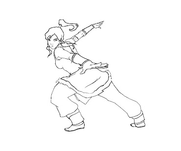 #10 Korra Coloring Page