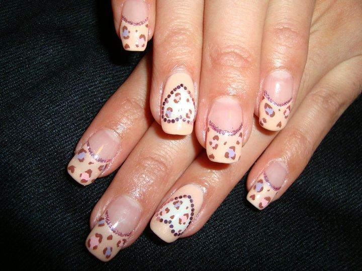 Cute Nail Designs Pink Leopard Print Nails