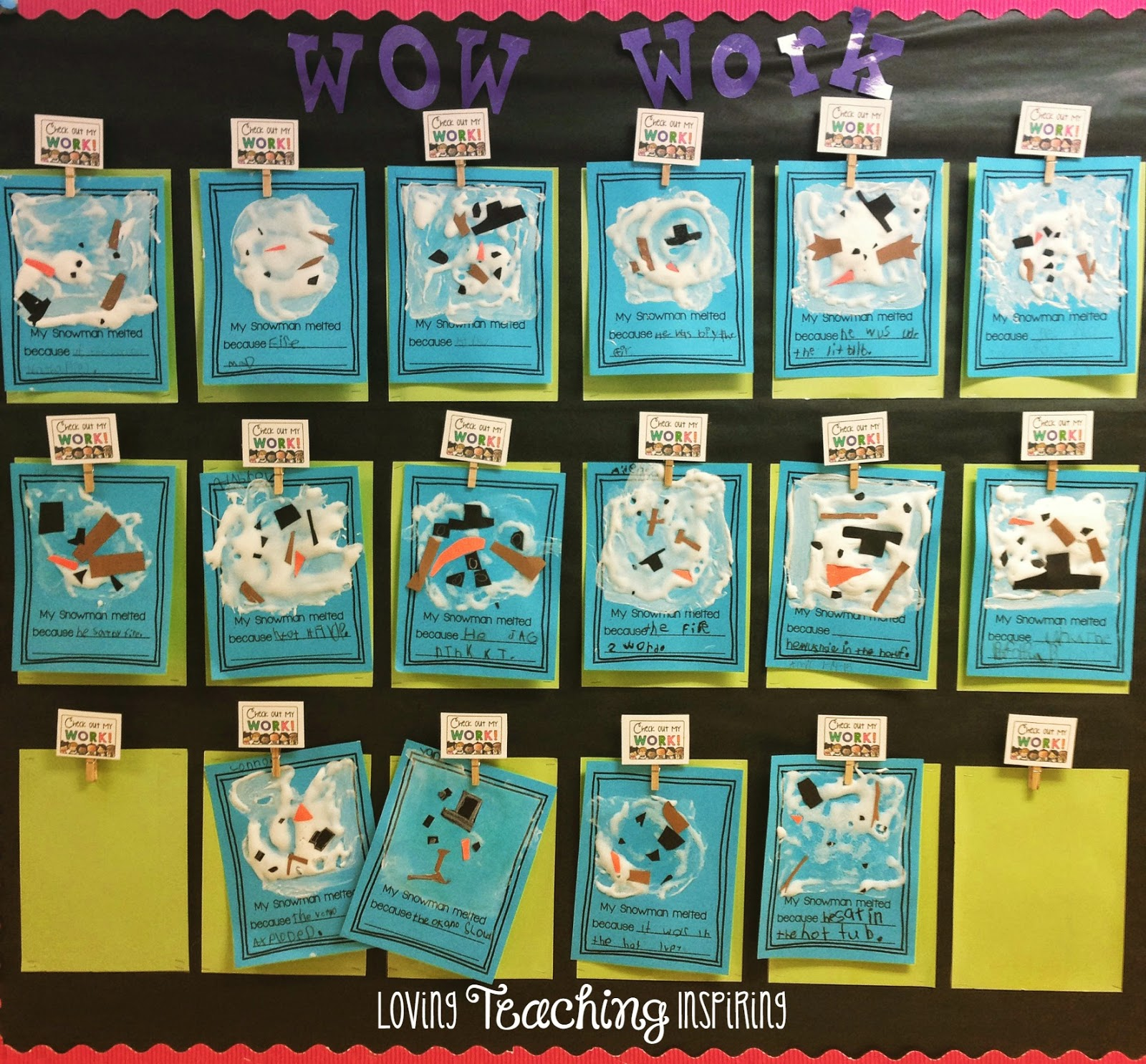 Complete the picture: snowmen!