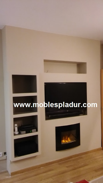 Pladur barcelona - Chimenea electrica mueble ...